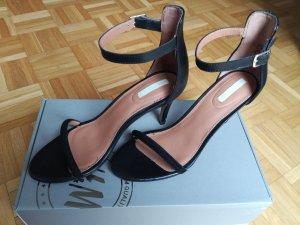 H&M Premium Strapped High-Heeled Sandals black