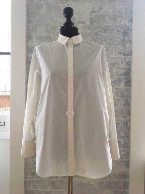 H&M Premium Camicetta lunga bianco Cotone
