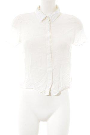 H&M Premium Kurzarm-Bluse weiß Elegant