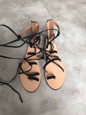 H&M Premium Strapped Sandals black