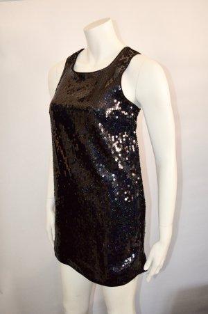 H&M Premium Limitiert Pailletten Glitzer Etuikleid Dress Gr. 36 NEW