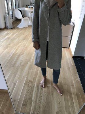 H&M Premium Abrigo de lana gris claro