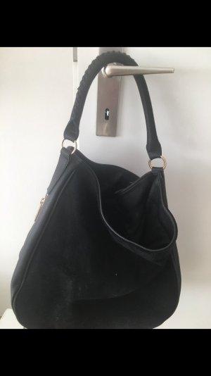 H&M Premium Quality Hobo Echtleder Tasche schwarz