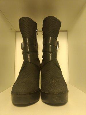 H&M Premium Quality Leder Stiefeletten schwarz Gr. 37