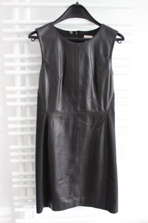H&M Premium Quality Lederkleid / Etuikleid Schwarz Größe 38