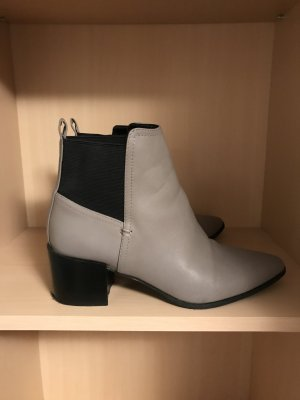 H&M Premium Booties silver-colored-black