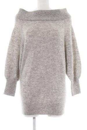 H&M Premium Jersey de lana gris claro-blanco moteado look casual