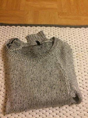 H&M Pulli in Silber Farben/ Winterpulli kuschelig warm und ein Hingucker
