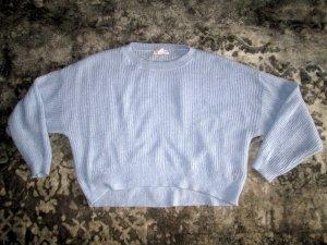H&M Pulli Oversize Pullover hellblau Gr. XL wie neu mit Mohair
