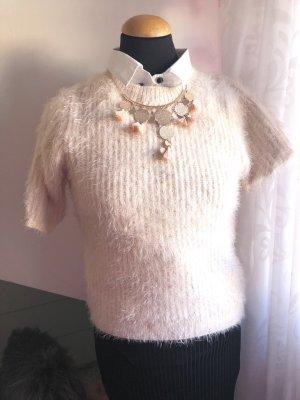 H&M Maglione a maniche corte rosa pallido-rosa chiaro