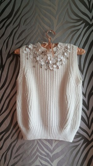H&M pullnder pullover weiss 34 xs