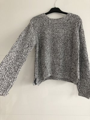 H&M Knitted Sweater white-black