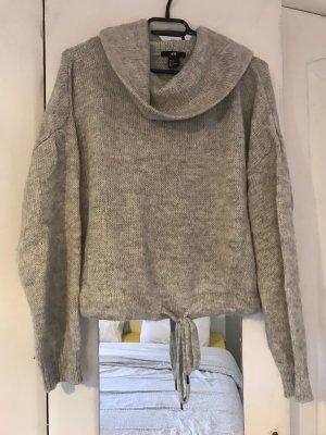 H&M Jersey de cuello alto gris claro