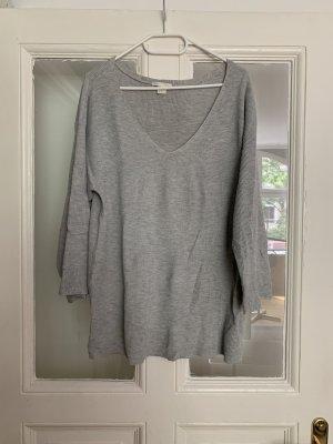H&M Oversized trui lichtgrijs-grijs