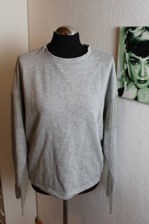 H&M Jersey holgados color plata-gris claro