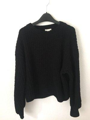 H&M Pullover aus Chenille Schwarz
