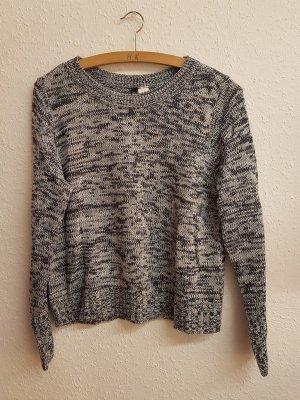 H&M Pullover blau-weiß gestrickt