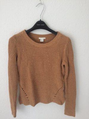 H&M Gehaakte trui bruin-beige
