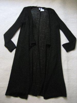 H&M pullover cardigan blazer gehrock schwarz neu gr. s 36 strickmantel