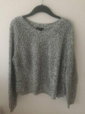 H&M Pullover cropped schwarz weiß