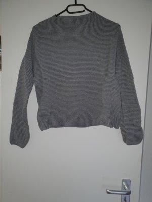H&M Turtleneck Shirt grey-dark violet
