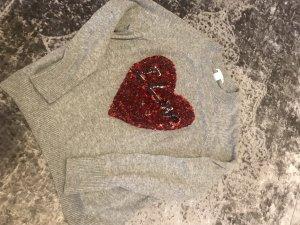 H&M Lange jumper grijs-rood