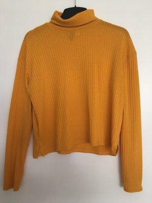 H&M Jersey de cuello alto amarillo