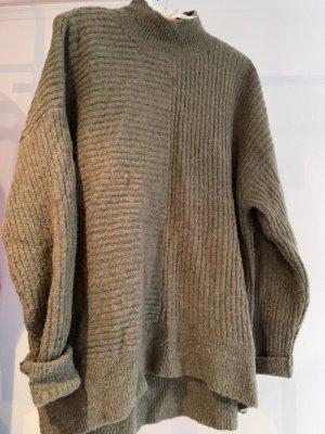 0bdd808b25 H M L.O.G.G. Turtleneck Sweater ocher-green grey