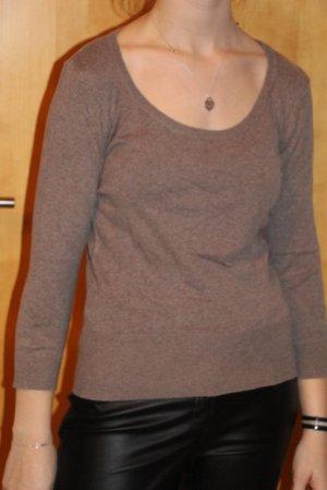 H&M Crewneck Sweater light brown mixture fibre