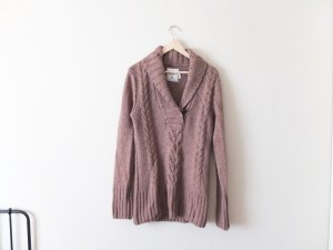 H&M Pullover Gr. L 40 beige Zopfmuster Lambswool