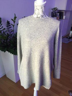 H&M Pullover grau beige meliert Gr S