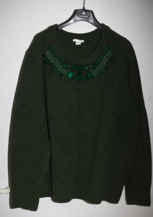 H&M Long Cardigan forest green