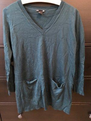 H&M Pullover Grün mit V-Ausschnitt M 38