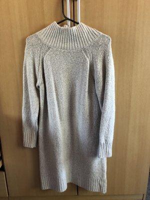 H&M Divided Abito maglione bianco-grigio chiaro