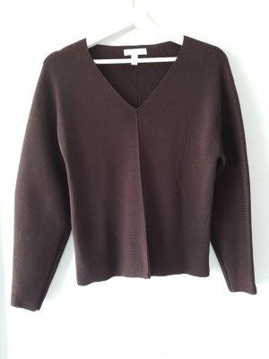 H&M Maglione con scollo a V marrone scuro