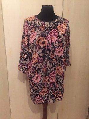 H&M Pullover lang Blumen Rosen Angorra