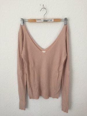 H&M Jersey con cuello de pico rosa claro-rosa