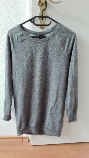 H&M Pullover oversize Kleid Longshirt XS 34 grau meliert