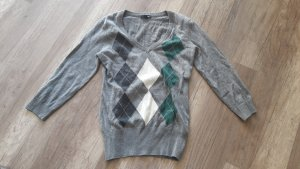 H&M Pullover Pulli Jumper Strick Knit Feinstrick Rauten Klassisch Basic