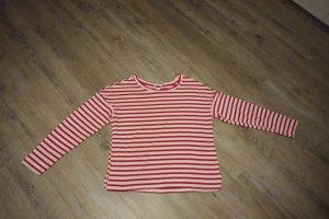 H&M Pullover Pulli rot weiß gestreift Streifen Gr. S