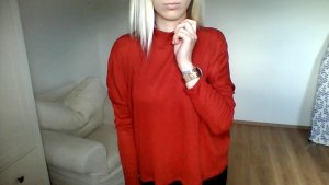 H&M Pullover rostrot 36