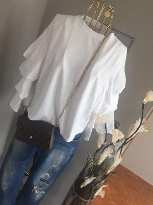 H&M Pull-over à col roulé blanc