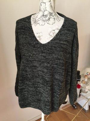 H&M Pullover schwarz grau melliert Gr XL