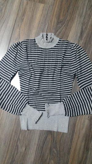 H&M Pullover * Streifen * Puffärmel * Gr. 34