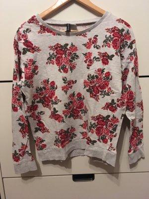 H&M Pullover Sweater mit Blumenmuster Gr. S