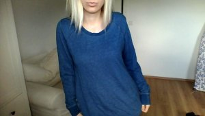 H&M Pullover Sweatpulli blau washed out