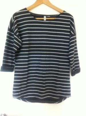 H&M Pullover / Sweatshirt Blau Weiß geringelt, Breton- Shirt