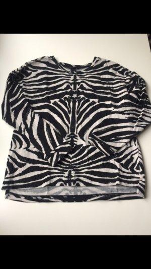 H&M Pullover, Sweatshirt mit Zebraprint, Gr.:36/S