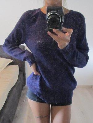 Maglione lungo viola scuro
