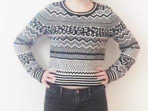 H&M Pullover XS schwarz weiß